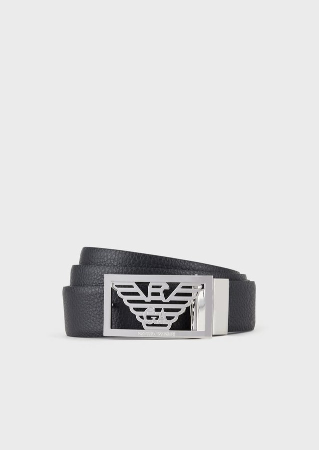 039bb1295b Reversible Leather Belt With Logo Buckle