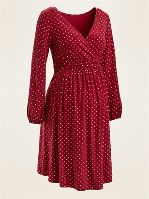 Old Navy Maternity Cross-Front Jersey Long-Sleeve Dress