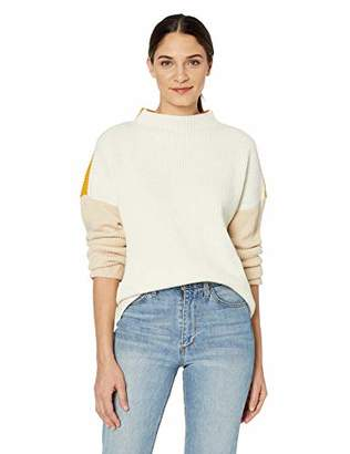 Cable Stitch Women's Oversized Colorblock Sweater
