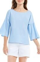 Vince Camuto Petite Women's Bell Sleeve Poplin Blouse