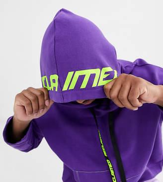 Reclaimed Vintage purple hoody with stepped hem