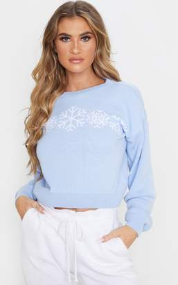 PrettyLittleThing Pink Snowflake Christmas Jumper