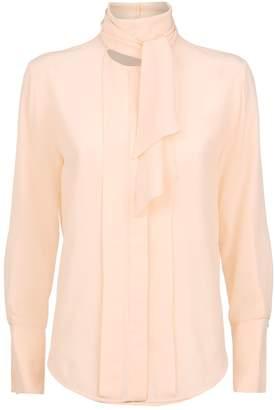 Chloé Silk Pussybow Tie Shirt