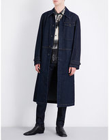 Dries Van Noten Indigo Buttoned Machine Washable Vesper Denim Coat