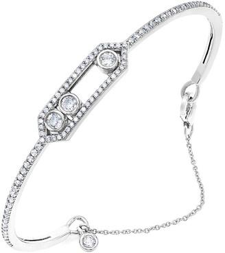 Crislu Silver Cz Chain Bracelet