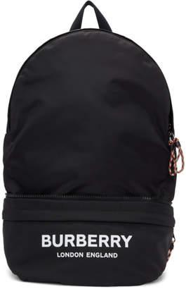 Burberry Black Convertible Logo Backpack