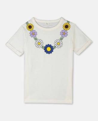 Stella McCartney flower necklace cotton t-shirt