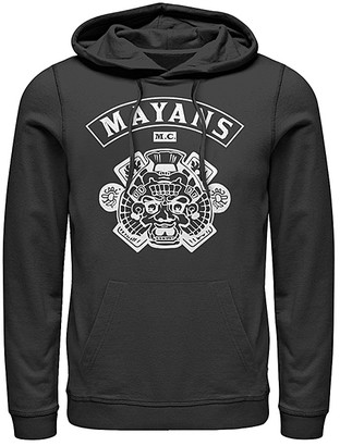 Fifth Sun Men's Sweatshirts and Hoodies BLACK - Mayans M.C. Black Logo Hoodie - Men