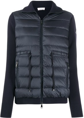 Moncler Zip-Up Padded Panelled Jacket