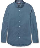 Michael Kors Slim-Fit Polka-Dot Cotton-Poplin Shirt