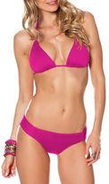 Becca Swim Color Code Solid Triangle Bikini Top