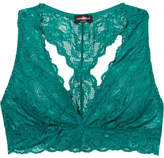 Cosabella Never Say Never Stretch-lace Soft-cup Bra - Teal