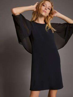 Halston Blouson Sleeve Dress