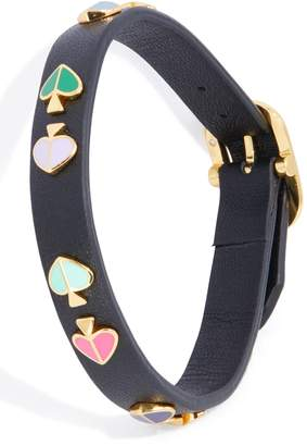 Kate Spade Heritage Spade Studded Leather Bracelet