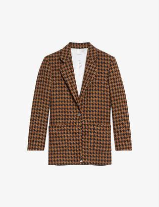 Sandro Carmel single-breasted wool blazer