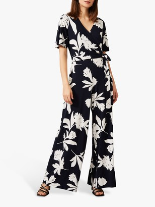 Phase Eight Cerys Floral Print Jumpsuit, Ivory/Multi