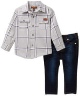 7 For All Mankind Button-Up Shirt & Jeans Set (Baby Boys)