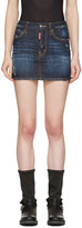 DSQUARED2 Indigo Denim Miniskirt