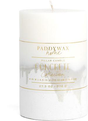 "Paddywax Concrete Pillar Candle, 4"" x 6.5"""