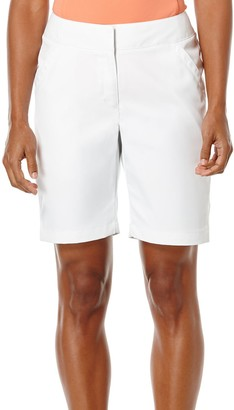 "PGA TOUR Women's Plus SizeComfort 19"" Sunflux Solid Woven Short with Comfort Stretch"