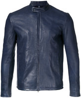 Kazuyuki Kumagai - enclosed-zip leather jacket - men - Lamb Skin - 1