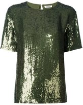 P.A.R.O.S.H. short sleeved sequinned top - women - Viscose/PVC - XS