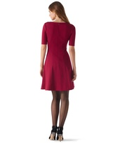 White House Black Market Cardinal Red Ponte Dress