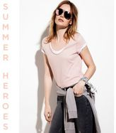 River Island Womens Pink scoop neck T-shirt