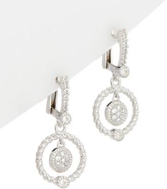 Judith Ripka Silver 0.40 Ct. Tw. White Topaz Drop Earrings