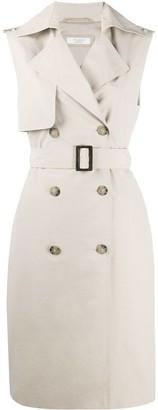Peserico Sleeveless Trench Coat
