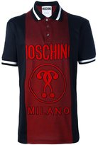 Moschino panelled logo polo shirt