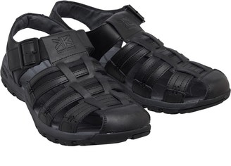 Karrimor Mens Fisherman Closed Toe Leather Sandals Black