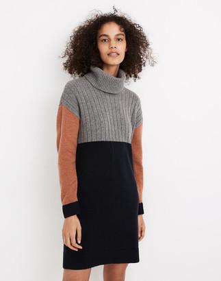 Madewell Colorblock Turtleneck Sweater Dress