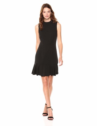 Adrianna Papell Women's Sleeveless Modern A-Line Dress in Knit Crepe