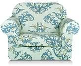 TIKAMI 2-Piece Spandex Printed Fit Stretch Sofa Slipcovers (chair, Green)