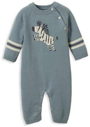 Elegant Baby Baby Boy's Zeke The Zebra Knit Coverall