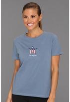 Life is Good Patriotic Star Crusher Tee Women's T Shirt