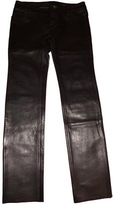 Lucien Pellat-Finet Lucien Pellat Finet Black Leather Trousers for Women