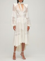 Thumbnail for your product : ZUHAIR MURAD Lace & Tulle Midi Dress