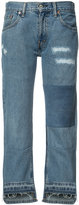 Nili Lotan patch and frayed jeans - women - Cotton - 24