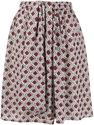 Christian Wijnants Mosaic Print Draped Detail Skirt