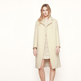 Maje Long boiled wool coat