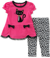 Kids Headquarters 2-Pc. Cat Tunic and Leggings Set, Baby Girls (0-24 months)