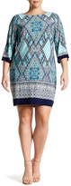 Sandra Darren Printed Shift Dress (Plus Size)