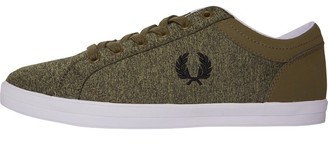 Fred Perry Mens Baseline Bonded Marl Trainers Burnt Olive