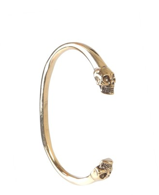 Alexander McQueen Double Skull Cuff Bracelet