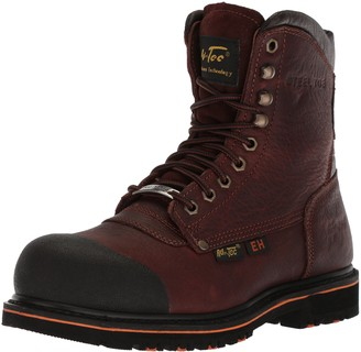 "AdTec Mens 6"" Work Boots with Steel Toe Ankle Boot Goodyear Welt Construction Full Grain Leather"