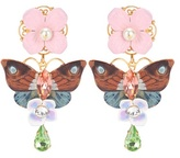 Dolce & Gabbana Crystal and leather-embellished clip-on earrings