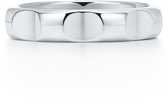 Tiffany & Co. Paloma's Groove narrow ring in sterling silver, 4 mm wide - Size 5