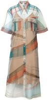 Diana Arno Kendall Tulle Shirt Dress